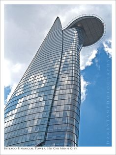 The Bitexco Tower in Ho Chi Minh City, Vietnam. Beautiful Architecture, Contemporary Architecture, Architecture Design, Architectural Photography, Landscape Photography, Tower Building, Tower Design, Glass Facades, Ho Chi Minh City