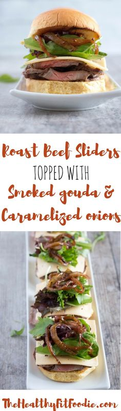 Bursting with zeal and flavor, these Roast Beef Sliders will be a crowd pleaser at any party or event. They're topped with Smoked Gouda and Caramelized Onions and are sure to be drool worthy. Learn how to cook a london broil. Quick and easy london broil #sponsored #FLBeefImmersion @flbeefcouncil
