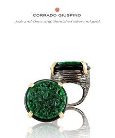 Corrado Giuspino jade and onyx ring