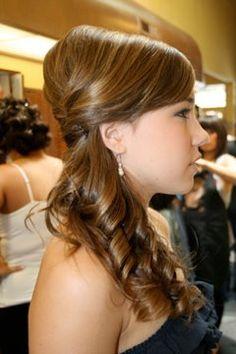 my sister's hair for my wedding. Side pony updo  stylistnicki35.wix.com/stylebynicole