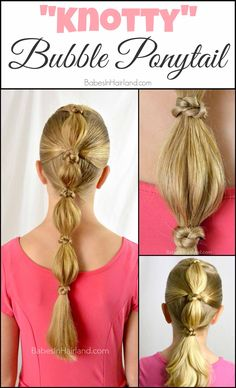 """While this ponytail truly is """"knotty"""" – it's probably one of the """"nicest"""" ponytails you'll ever..."""
