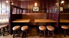 The Grapes Oxford   Traditional Pub Design   Simple Simon Design Ltd,,  I like the idea of partitions...