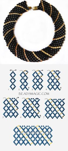 Best Seed Bead Jewelry  2017  Free pattern for necklace Katrina 11/0-6 mm szalma