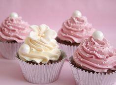 pink cream cupcakes