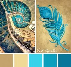 Capture some of the brilliance shining out of times past with this Vivid Ruination color inspiration. - Home Decoration - Interior Design Ideas Colour Pallette, Colour Schemes, Color Patterns, Color Combos, Best Color Combinations, Color Balance, Design Seeds, Colour Board, Color Swatches
