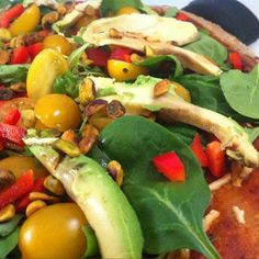 Who says pizza can't be part of a healthy diet? Try my recipe for Green Salad Whole Wheat Pizza!