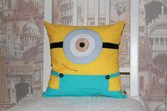 Купить Декоративная подушка миньон - желтый, подушка, подушка декоративная, подушка-игрушка, подарок, миньон