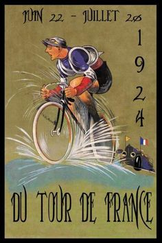 Tour de France Bicycle Bike Cycles 1924 Race French Vintage Poster Repro FREE SH | Art, Art Posters | eBay! #vintagebicycles