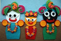 Cute Jagannatha from felt