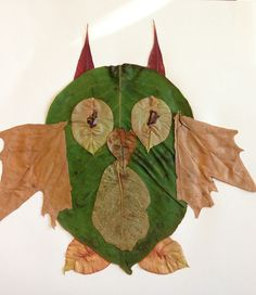 London's fall leaf animals -Owl