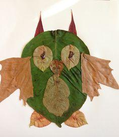 London's fall leaf animals -Owl
