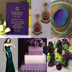 Emerald Green / Peacock Wedding