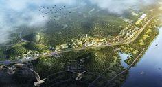 """""""Pela primeira vez na China e no mundo, um complexo urbano combinará o desafio da auto-suficiência energética e do uso de energia renovável com o de aumentar a biodiversidade e efetivamente reduzir a poluição do ar - o que é realmente crítico para a atual China""""."""