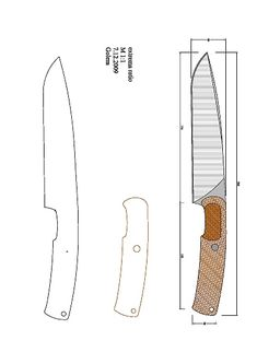 tops_wind_runner_XL Model (1).pdf - OneDrive Types Of Knives, Knives And Swords, Knife Grinding Jig, Homemade Forge, Knife Drawing, Knife Shapes, Collector Knives, Knife Template, Diy Knife