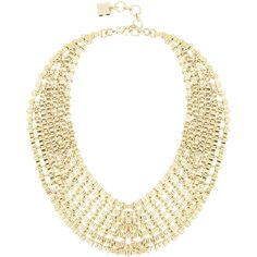 Bcbg Maxazria Chain Bib Necklace ($80) ❤ liked on Polyvore featuring jewelry, necklaces, accessories, gold, chain jewelry, bib necklace, lobster clasp necklace, chain bib necklace and adjustable chain necklace