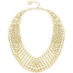 Bcbg Maxazria Chain Bib Necklace ($80) ❤ liked on Polyvore featuring jewelry, necklaces, accessories, collar, naszyjniki, gold, bcbgmaxazria, bib necklace, adjustable chain necklace and chain collar necklace