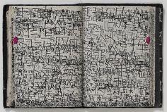 No. 6: Outsider CalligraphyKunizo Matsumoto - Untitled (2002), pen on notebook paper, 155 x 230 cm.