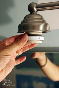 Rental bathroom on pinterest rental kitchen rental - How to remove bathroom light fixture cover ...