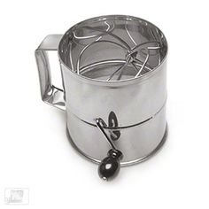 need 2 - Royal Industries (ROY RFS) - 8 Cup Stainless Steel Rotary Flour Sifter | FoodServiceWarehouse.com