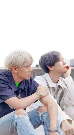 berisikan foto foto couple favorit versi me boyslove version oke # Random # amreading # books # wattpad Park Chanyeol, Exo Chanbaek, Chanyeol Baekhyun, Kris Wu, Taekook, Otp, Exo Couple, Exo Lockscreen, Exo Fan