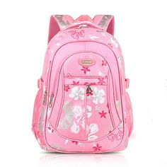 Children Backpack Canvas School Bag Flower Print Rucksack Boy Girl Tour Bags  Kids Backpacks 0bf071f8e0f06