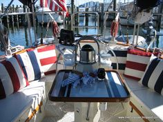 Peter and Jan Hibbard, have sent photos of their 37' CSY. The boat does not look 30 years old, does it! I've had lot's of querries for 37 ... Sailboat Interior, Yacht Interior, Cabana, Used Sailboats, Buy A Boat, Diy Boat, Sailboat Living, Boat Decor, Boat Stuff