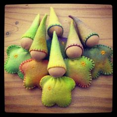 Star Babies made especially for little ones' birthdays. By Vira Higgins | Kitsune House