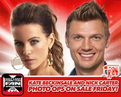 Photo Ops with Kate Beckinsale & Nick Carter ON SALE FRIDAY 2/26/16 at NOON (MST). Click to learn more & enter to win a $30 Photo Op voucher! #utah #FANX16