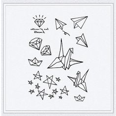 Tattoo temporary Long lasting tattoo  paper crane par TattooKorea, $6,50