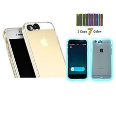 Feceir Apple iPhone 5/5S/SE Case - LED Flash Case 7 Color... Apple Iphone 5, Awesome Stuff, Light Up, Iphone Cases, Led, Creative, Color, Colour, Iphone Case