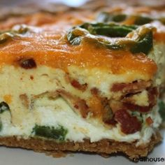 omit the crust Bacon Jalapeno Popper Quiche///////// OMG! The best quiche I've ever had, and I make a lot of quiches. Jalapeno Bacon, Stuffed Jalapenos With Bacon, Jalapeno Pepper, What's For Breakfast, Breakfast Dishes, Breakfast Recipes, Breakfast Casserole, Perfect Breakfast, Breakfast Quiche