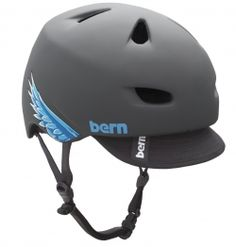 Bern bike helmets look like baseball caps. The perfect low-profile helmet for commuters.