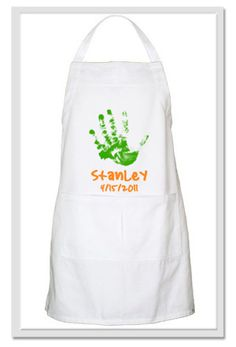 Kids Mother's Day craft - handprint apron....could put all the kiddos hands on there!