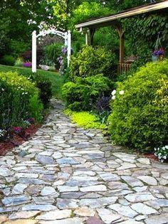 Stone Walkways On Pinterest Flagstone Path Flagstone