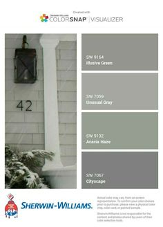 grey exterior house colors Ideas exterior paint colora for house green olive white trim Interior Paint Colors For Living Room, Exterior Paint Colors For House, Paint Colors For Home, Exterior Colors, Exterior Design, Exterior Paint Schemes, Grey Exterior, Cottage Exterior, Ranch Exterior