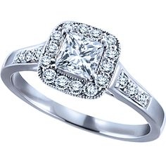 my wonderful friend's engagement ring <3 0.60 Carat Canadian Centre Diamond, 14k White Gold