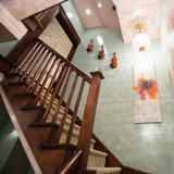 The family staircase was designed by Loren Audrey Taylor of Anna Abrams Design.  | HGTV FrontDoor