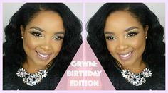 GRWM: Birthday Edition Lets stay Connected Follow me on:  Facebook: Jennyfer Ross  Instagram: Jennyferross  Snapchat: Jennyferross Hair Blow out: https://www.youtube.com/watch?v=al-oHIprK04  WHAT IM WEARING  Top: Forever 21 Limited edition Necklace: Forever 21  Products Used Eyes: Mac Painterly paint pot The Balm: Nude Dude Palette Color Pop Cosmetics: Shock Eyeshadow in Glow Random Loose Emerald & Lint Glitter Essence Liquid Ink Eyeliner L'oreal Million Lash Mascara Face: (Not shown in the…