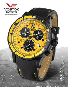 Vostok Europe Anchar Submarine Chrono Black/Black Watch 6S30/5104185