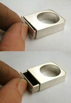 OOAK Drawer Ring-sterling silver. $275.00, mujoyas on Etsy.