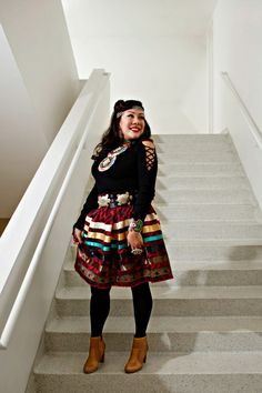 I Am Anishinaabe: Ojibwe Women Seek New Horizons While Honoring Tradition Native American Clothing, Native American Fashion, Native Fashion, Tribal Fashion, Traditional Skirts, Traditional Outfits, Jingle Dress, Conservative Outfits, Dress Shirt And Tie