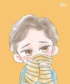 Chen/ Kim Jongdae/ Lucky One Concept Exo Lucky One, Exo Cartoon, Exo Anime, Exo Fan Art, Kpop Drawings, Xiuchen, Kim Jongdae, Fandom, Cute Chibi