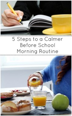 Calm down your morning routine