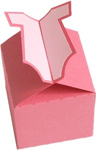 Possible favor boxes except in blue #babyshower