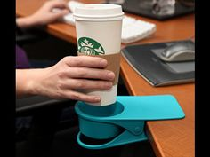 Now you can have your drink next to your computer without fear of spilling. I want one of these for all my students!