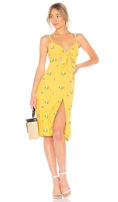b91474c706 Privacy Please Nora Embroidered Midi Dress in Sunny Yellow