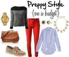 Preppy Style Without Breaking the Bank. Tips on where to get J.Crew style for less.
