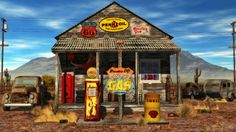Old gas station on Rt 66