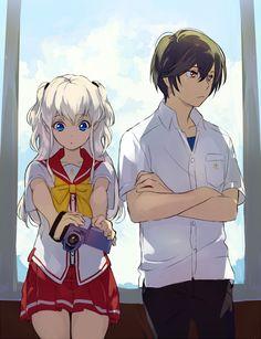 Tomori Nao and Yuu Otosaka Charlotte Anime, Anime Love, All Anime, Manga Anime, Anime Stuff, Anime Girls, Angel Beats, Otaku, Anime Triste
