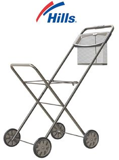 The Hills Deluxe Panache Laundry Trolley is a perfect wash day friend saving you carrying heavy washing and removes the need to continuously bend down to the wash basket. It features an integrated mesh peg basket and high handle design Laundry Equipment, Peg Bag, Laundry Supplies, How To Get Thick, Multipurpose Room, Clothes Line, Laundry Basket, Cool Things To Buy, Home Improvement